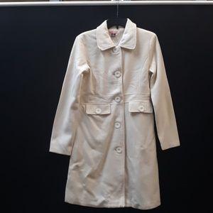 Cream Medium Max Rave Trench Pea Coat.